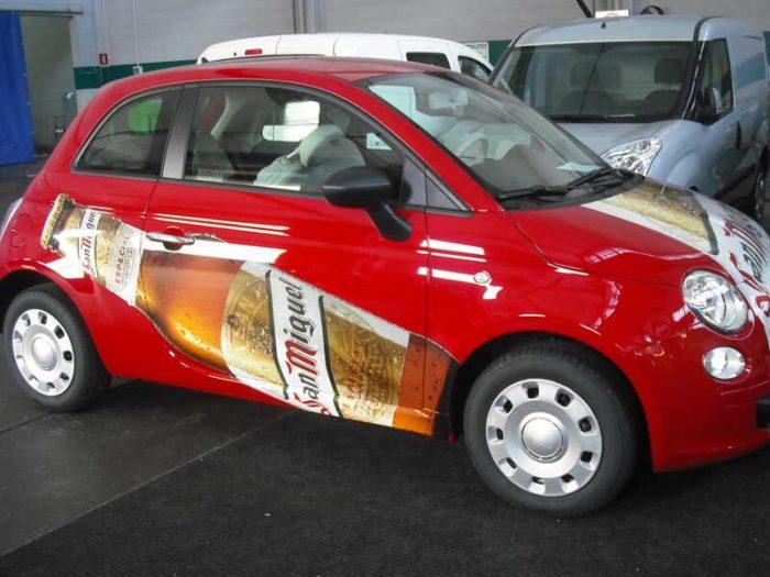 decorazione automezzi Decor Grafica Fiat 500 San Miguel